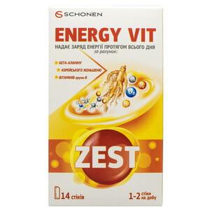 Витамины ZEST (Зест) Energy Vit (Енерджі Віт) в стиках 14 шт