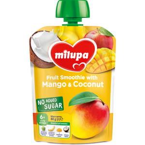 Пюре фруктовое детское Нутриция Milupa (Милупа) Яблоко, банан, манго и кокос с 6-ти месяцев 80 г