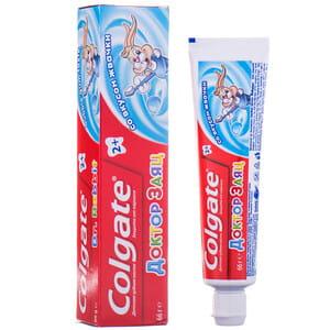 Зубная паста детская COLGATE (Колгейт) Доктор заяц со вкусом жвачки с 2-х лет 50 мл