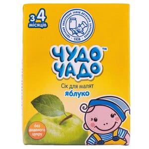 Сок детский ЧУДО-ЧАДО яблочный осветленный с 4 месяцев 200 мл
